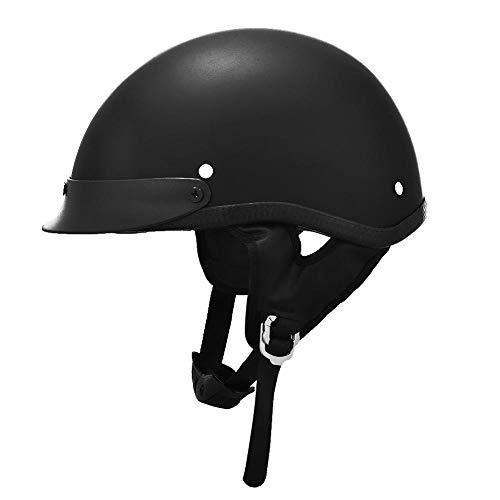 talogca Motorrad Halbhelm Persönlichkeit Retro Prinz Helm Harley Helm, Schwarz