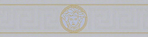 Price comparison product image Versace border - material: vinyl on non-woven material - colour: silver,  gold - article no. 1504-2885