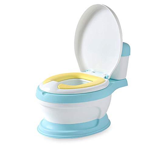 Children's toilet Baby Potty Chair - Amovible, Facile À Nettoyer, Repos Élevé, Design Ergonomique Confortable, Pieds Antidérapants, Entraînement Au Petit Pot pour Votre Garçon Ou Votre Fille,Blue