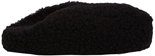 Woolsies Hedgehog Natural Wool Mule Slippers, Chaussons montants mixte adulte Noir (Black)