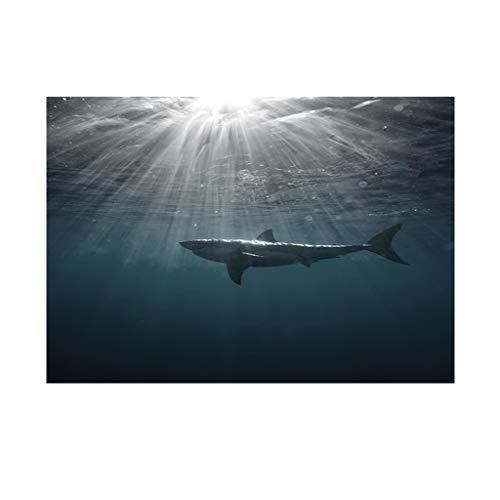 perfk Hai Aufkleber Aquarium Fisch Tank Hintergrund Dekoration - L