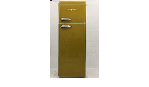 Retro Kühlschrank Five5cents : Five5cents g215 schaublorenz sl208 kühlgefrierkombination gelb