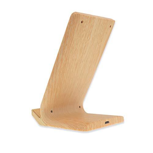 Wireless Charger Holzmaserung mit 2 Spulen,Induktive Ladegerät qi Wireless Charging Fast Ladestation Induktionsladegerät 10W 5W für iPhone X/8/8 Plus Samsung Galaxy S9/S8/S7/S6 Edge , Wood color