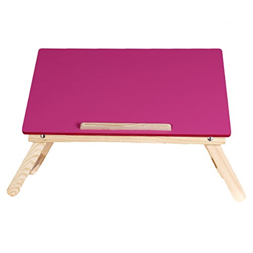 Ergonomically Designed Foldable Pink Wooden Multipurpose Table / Kids Table / Study Table / Adjustable Laptop Table  available at amazon for Rs.1299