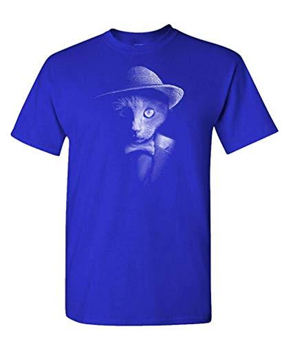 Für Kostüm Verkauf Elite - Dapper cat - Hipster Adventure Funny Kitten - Mens Cotton T-Shirt M