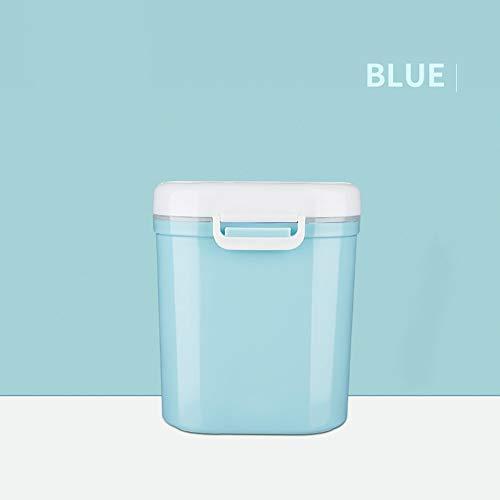 GHDE& Vorratsbehälter für Lebensmittel - Luftdicht Milch Puderdose - Ankou tragbar Formel Pulver Spender mit Leveler - Formula Dispenser,Blue,M
