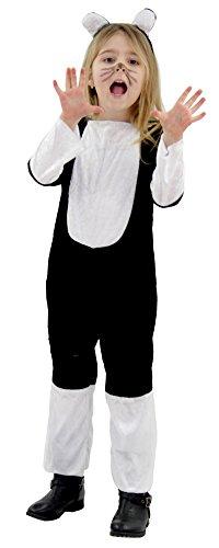 Foxxeo Katzenkostüm für Kinder Katzen Kostüm Katze Mädchenkostüm Mädchen Größe104-110 (S)