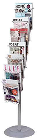 ALBA Wire Floor Literature Display Stand with 7 compartments -