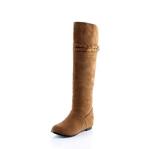 interno velluto Stivali manicotto di yellow opaco Plus Natale dimensioni è e aumentato di ZQ Stivali ginocchio QXregalo HzqRHZ