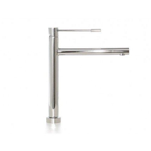 Preisvergleich Produktbild Copa Design KS-1060 Küchenarmatur | Wasserhahn / Mischbatterie aus 45% Edelstahl Glanz | 5 Jahre Garantie | Spültischarmaturen | Schwenkbar: 120°