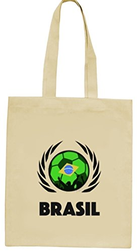 Brasil Wappen Fussball WM Fanfest Gruppen natur Jutebeutel Stoffbeutel Tote Bag Fußball Brasilien Natur
