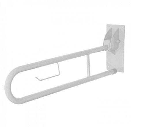 Wc-arm-schienen (Swing Arm Haltegriff Drop Down Schiene weiß für Unterstützung braucht WC)