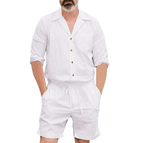Jumpsuit Herren Yesmile Herren Classics Overalls kurz Männer Strampler Strampler Overall Herren Latzhose Short Overall Anzug Kostüm (Männer Kostüm Größentabelle)