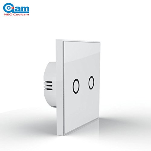 Preisvergleich Produktbild Morza NEO COOLCAM NAS-WR01ZE Plus-Wand Lichtschalter 2-Kanal-Gang Home Automation Z Welle Drahtlose intelligente Fernbedienung Lichtschalter