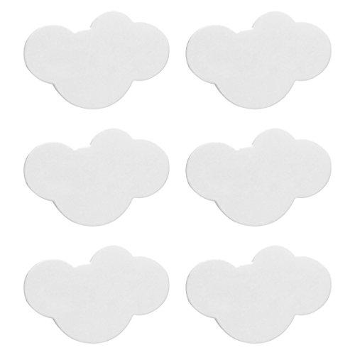 Möbelknöpfe Kinderzimmer, CT-Tribe 6er Set Moebelknopf Moebelknoepfe Moebelgriffe Moebelknauf Griff Knopf Schrankgriff 7,2×5×2,2cm - Weisse Wolke 7 Möbelknopf