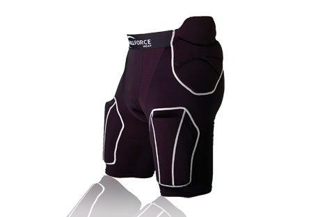 Mutanda 5 Tasche per Football Americano con 5 Protezioni Cucite Nella Mutanda, nero, XL