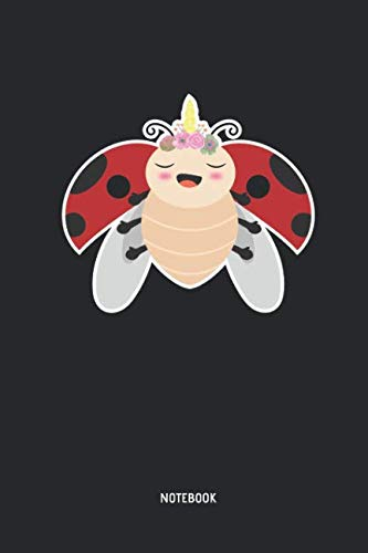 Ladybug Notebook: Lined Ladybug Unicorn Notebook / Journal. Great Ladybug Accessories & Novelty Gift Idea for all Ladybug Girls & ()