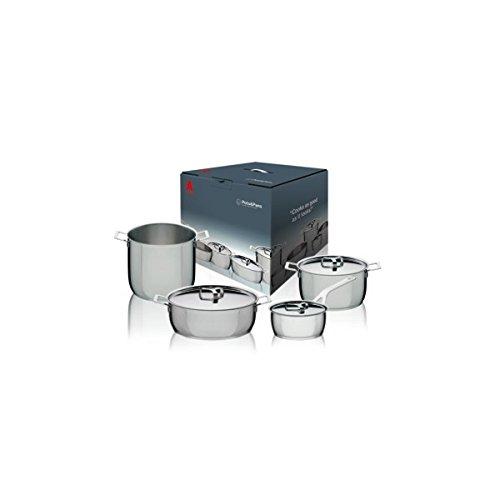 Alessi Batteria pentole in acciaio POTS&PANS 7 pz.