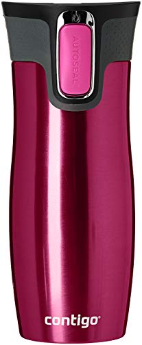 Contigo 1000-0016 - West Loop Vaso Térmico, color frambuesa, 470 ml, con logo