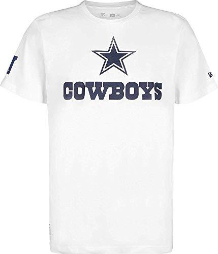New Era NFL Fan Logo Dallas Cowboys T-Shirt Herren weiß, S (Dallas Herren-t-shirts Cowboys))