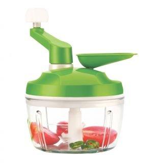 Apex Chop n Churn, verduras y frutas Quick Chopper, churner, amasador–con agua y aceite dispensador verde