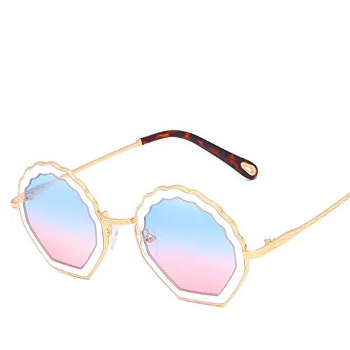 Provide The Best Blume geformt Runde Sonnenbrille Metallrahmen PC Objektiv Sonnenbrillen UV400 Schutz Shades Brillen