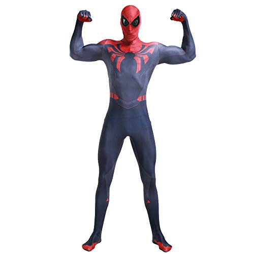 (QQWE Spiderman Kostüm Marvel Hero Superior Spiderman Cosplay Kostüm Erwachsene Kinder Halloween Weihnachten Kostüm Requisite B-Erwachsene XXL)