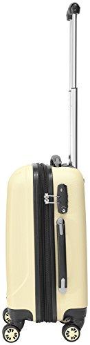 Packenger Kofferset - Velvet - 3-teilig (M, L & XL), Cafe-au-Lait, 4 Rollen, Koffer mit TSA- Schloss und Erweiterungsfach, Hartschalenkoffer (ABS) - 8