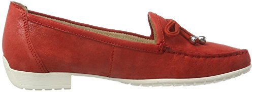 Caprice 24610, Mocassins Femme Rouge (Red Suede Comb)