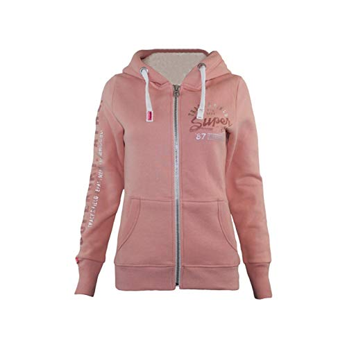 Superdry Damen Pullover Track & Field Borg Ziphood, Orange Peach Ws8, Large (Herstellergrö Preisvergleich