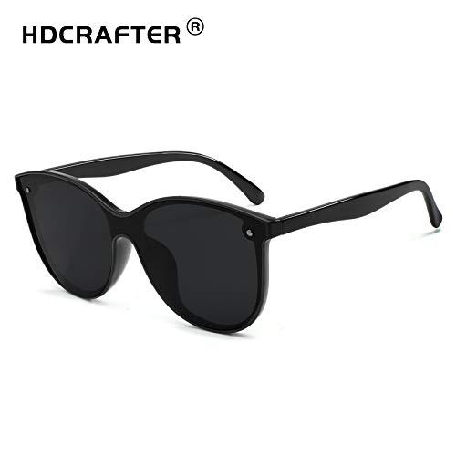 Gläser Gläser HD polarisierte Nacht, die Blendschutz-Sonnenbrille for Mann-Frauen-Gelb-Objektive fährt YHWCUICAN (Color : Schwarz, Size : Kostenlos) (Für Nacht-vision-brille Erwachsene)
