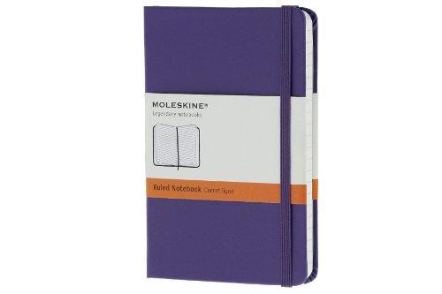 Moleskine farbiges Notizbuch (Pocket, Hardcover, liniert) violett