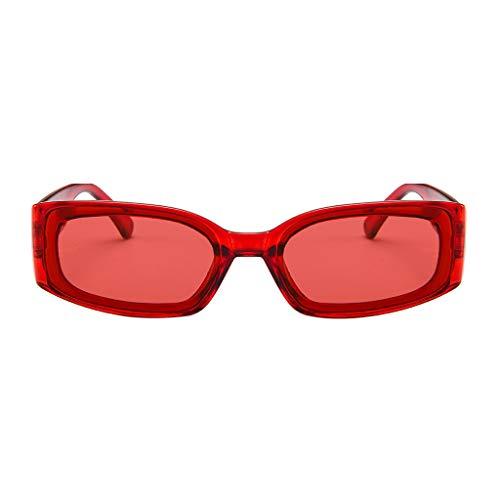 Polarisierte Gläser-Sonnenbrille, Unisex, leicht, modisch, verspiegelt, polarisiert, rot