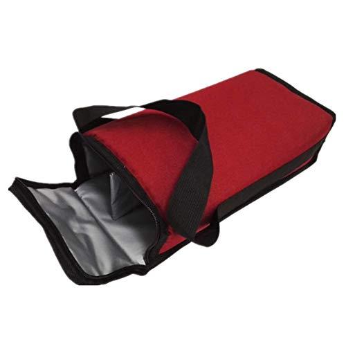Isolierte Weinkühler-Tragetasche für 2 Flaschen, auslaufsicher, gepolstert, tragbar, mit Tragegriff, Schultergurt, für Picknick, Camping, Reisen (1 Stück)