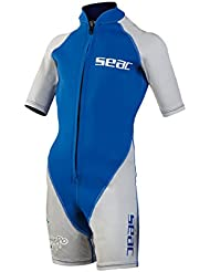 SEAC Jungen Neoprenanzug Shorty Hippo Boy, blau/silber