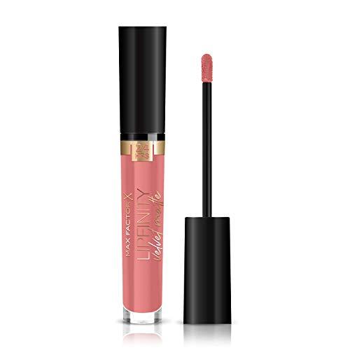 Max Factor Lipfinity Velvet Matte mattierender, langanhaltender Lippenstift mit pflegender Wirkung, Farbe. 030 Cool Coral (rosa), 1er Pack (1 x 4 ml) -