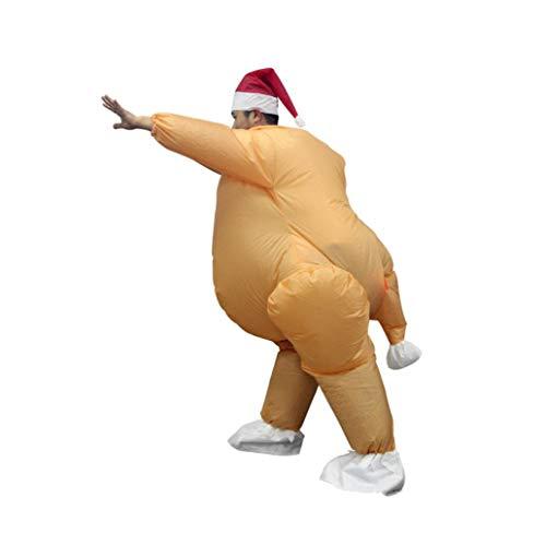 Aus Shows Lustige Tv Kostüm - Selbst Aufblasende Türkei Aufblasbares Modell Thanksgiving Kostüm Lustige Wasserdichte Thanksgiving Geschenk Eingebaute LED-Leuchten Für TV-Shows, Geburtstagsfeiern, Bachelor-Partys [Energieklasse A]