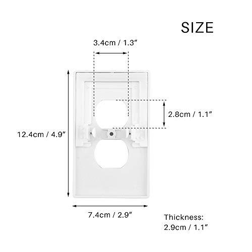LED Nachtlicht Bad Stecker Abdeckung Nachtlicht eingebauter Lichtsensor Wandschnalle Power Duplex Steckdose Wandleiste -