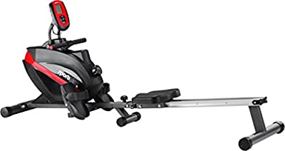 Sport Plus - Máquina de remo, ordenador incluye receptor de pulso 5kHz, peso del usuario hasta 150kg, plegable, según la normativa EN ISO 20957–1/EN 957–7