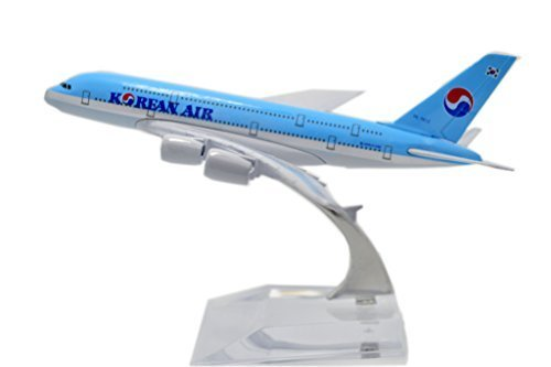 1400-16cm-air-bus-a380-korean-air-metal-airplane-model-plane-toy-plane-model-by-tang-dynasty-interna