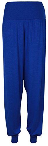 PrettyFashion donna Pantaloni Harem Ali Baba lunga Ladies ragazze pantaloni larghi Harem Leggings taglie 8-22 Blu