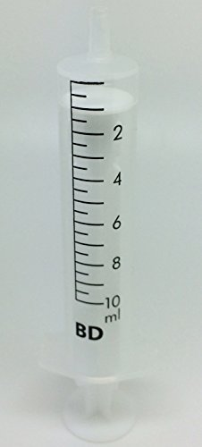 Jeringa hipodérmica plástico desechable estéril