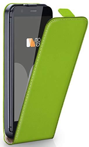 moex® Flip Case mit Magnetverschluss [Rundum-Schutz] passend für Motorola Moto G | 360° Handycover aus feinem Premium Kunst-Leder, Grün