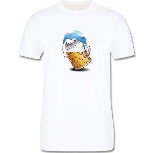 Après Ski - Bierberge - Herren Premium T-Shirt Weiß