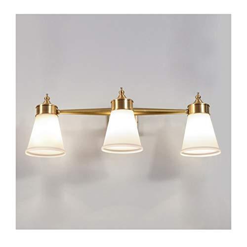 ,Spiegelleuchte Spiegel Scheinwerfer Europäische LED Badezimmer Wasserdichte Badezimmer Einfache Wandleuchte Kupferspiegel Scheinwerfer .Spiegellicht (Size : 68cm)