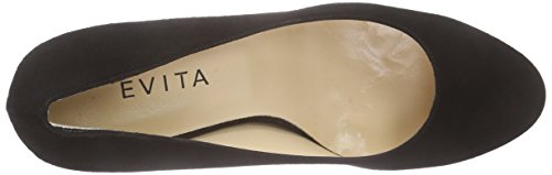 Evita Shoes Pump, Scarpe Col Tacco Donna Nero (Schwarz (schwarz 10))
