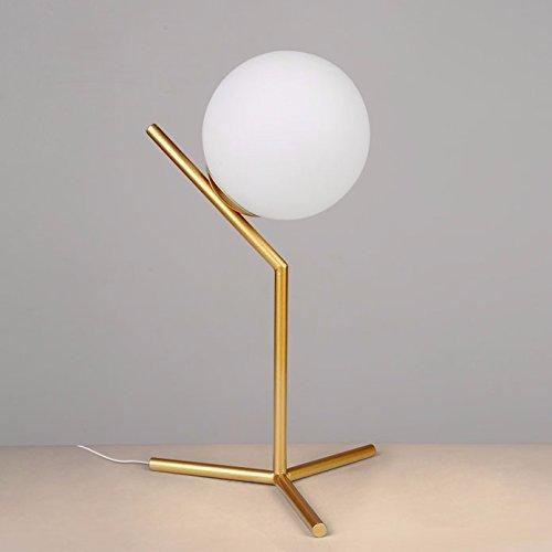TD Tischlampe-The Orbs Glasmalerei Lampen nordisch minimalistische Moderne kreative Persönlichkeit und einladende Zimmer sind zum Lernen eingerichtet -
