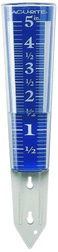 Accurite Chaney Instrument 12,7cm Kapazität leicht abzulesendes Lupe Regenmesser -