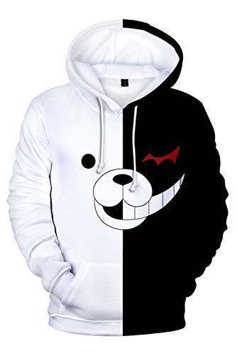 onpa Trigger Happy Havoc Monokuma Kapuzenjacke 3D Pullover mit Kapuze Sweatjacke Hoodie Cosplay Kostüm Unisex ()