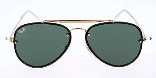 RAYBAN JUNIOR Unisex-Erwachsene Sonnenbrille Blaze Aviator, Gold/DarkGreen, 61